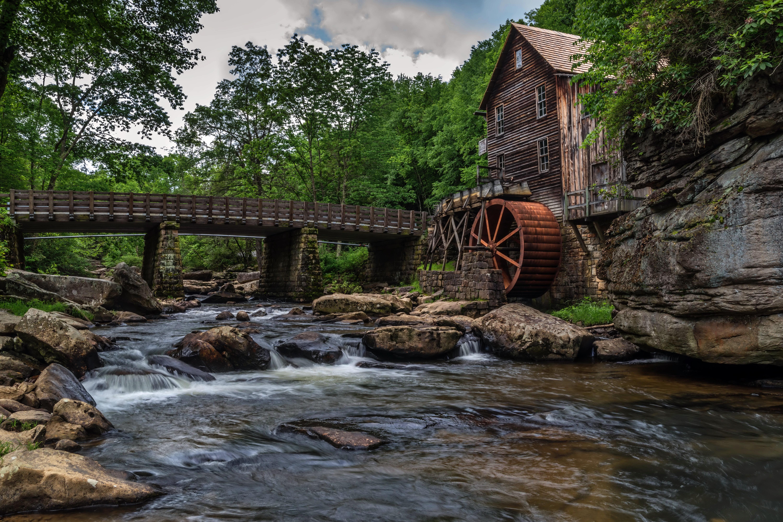 Мельница река мостик  № 2785778  скачать