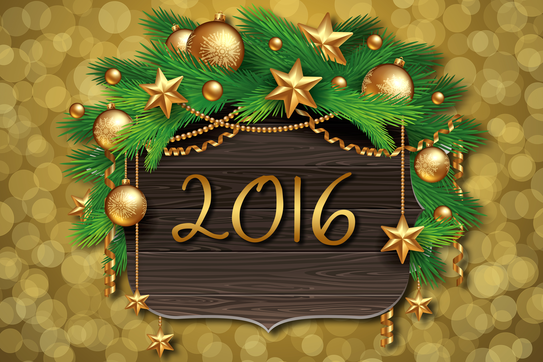 С новым годом и рождеством открытка 2016, ночи
