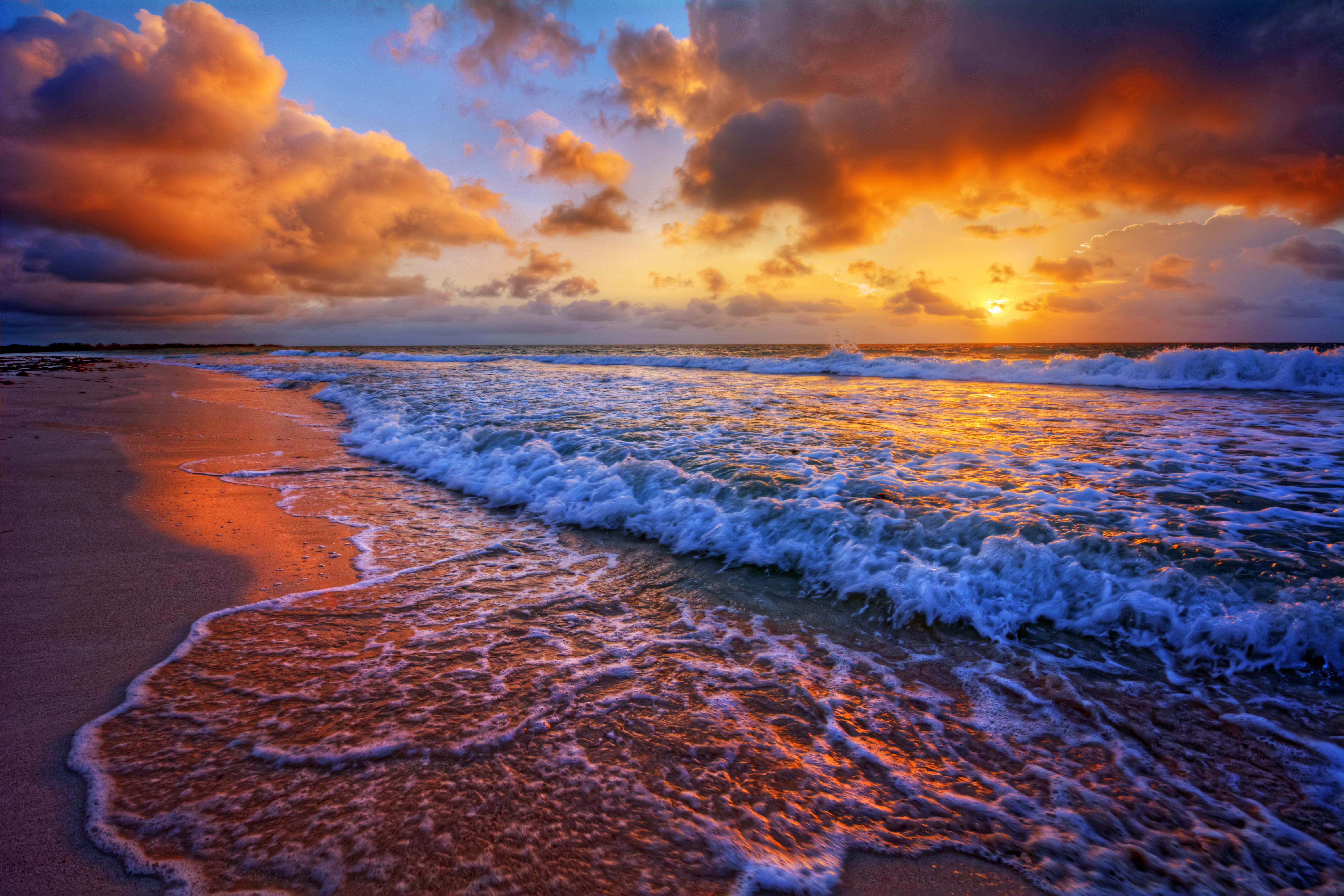 Море закат волна  № 3891377 бесплатно