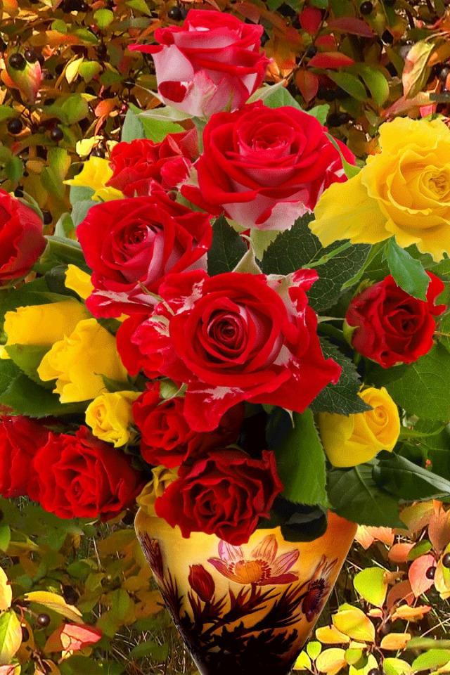 Картинки осенних букетов розы