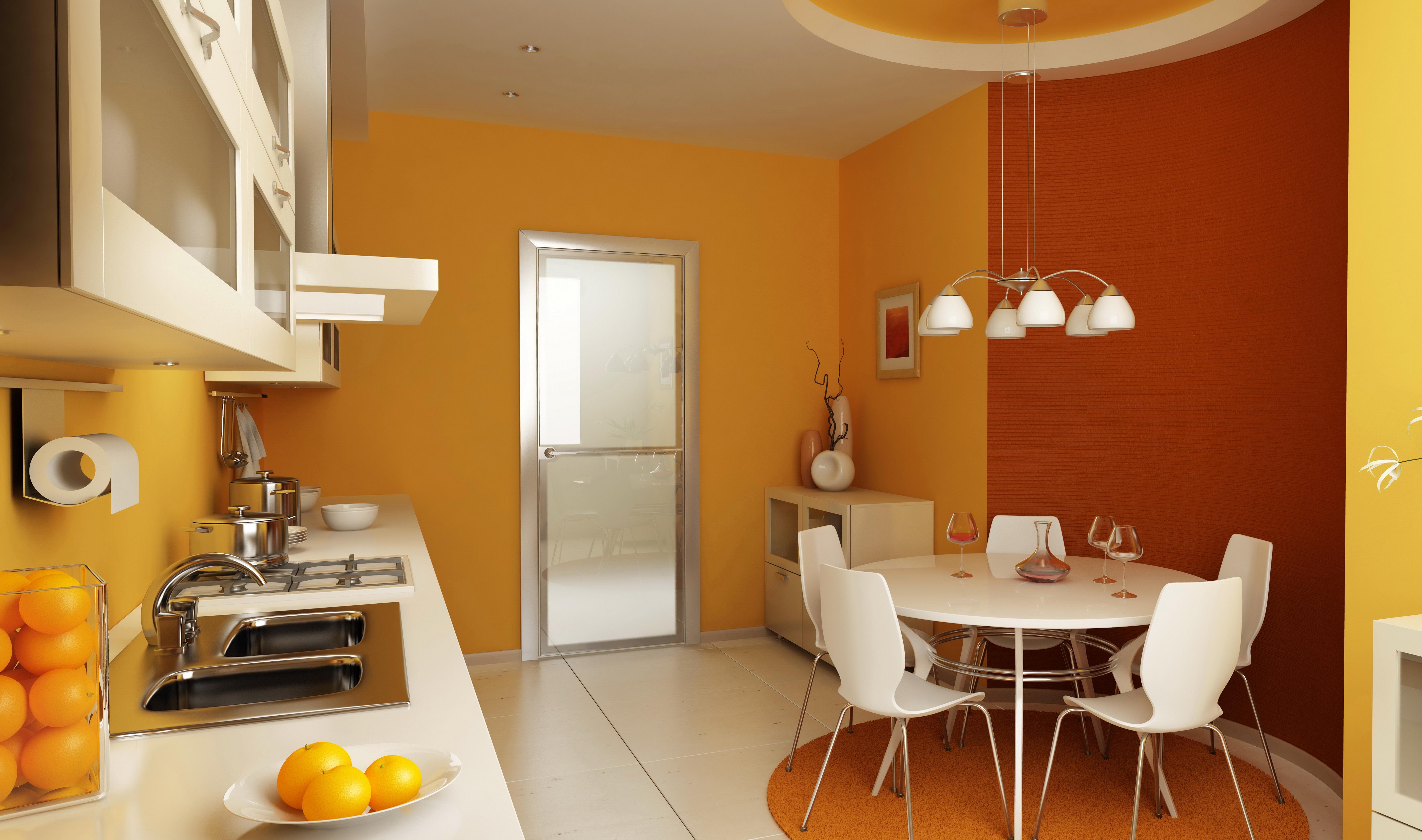 Обои на кухню в интерьере дизайн