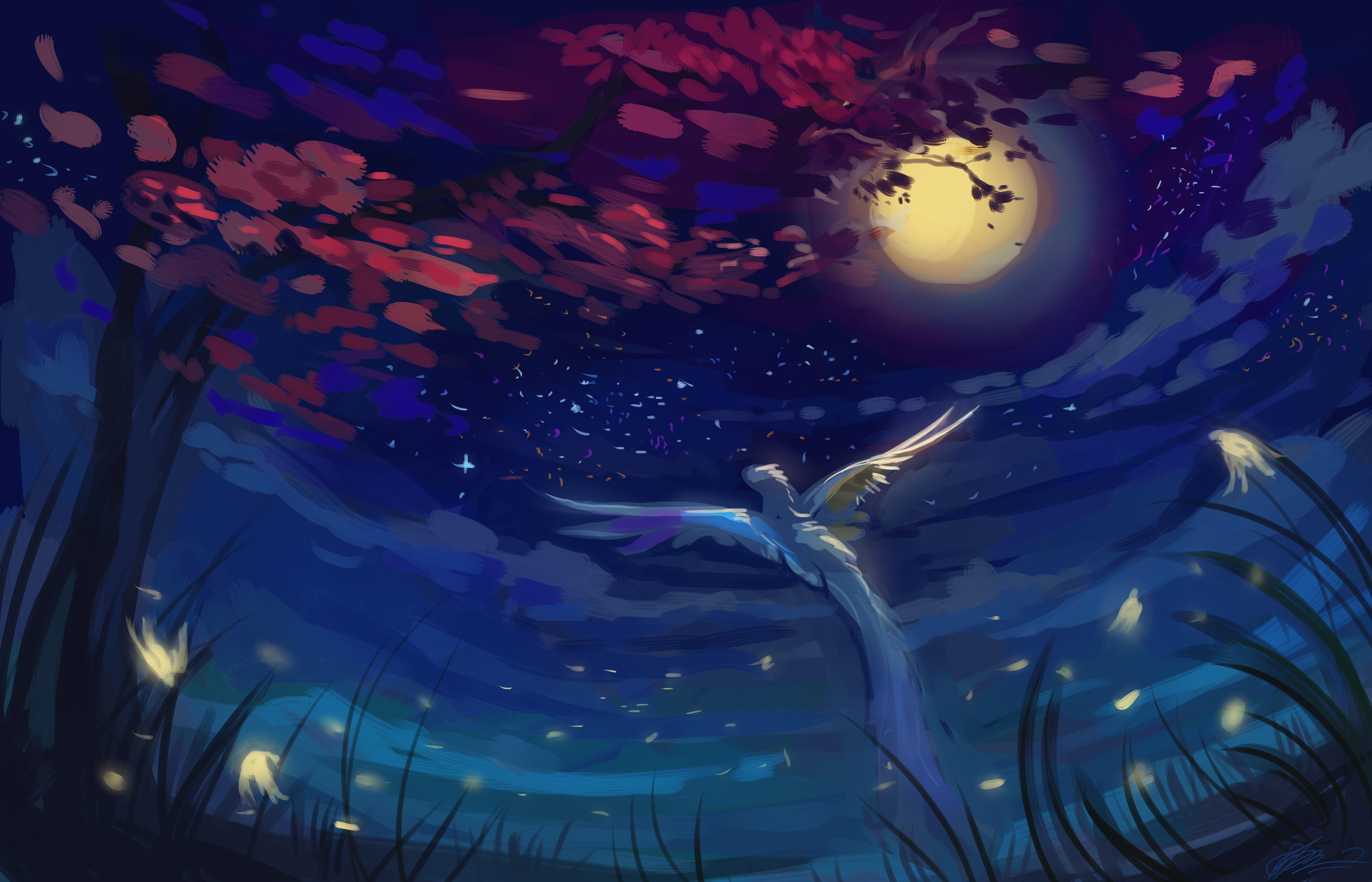 картинки птицы ночью большинстве случаев можно