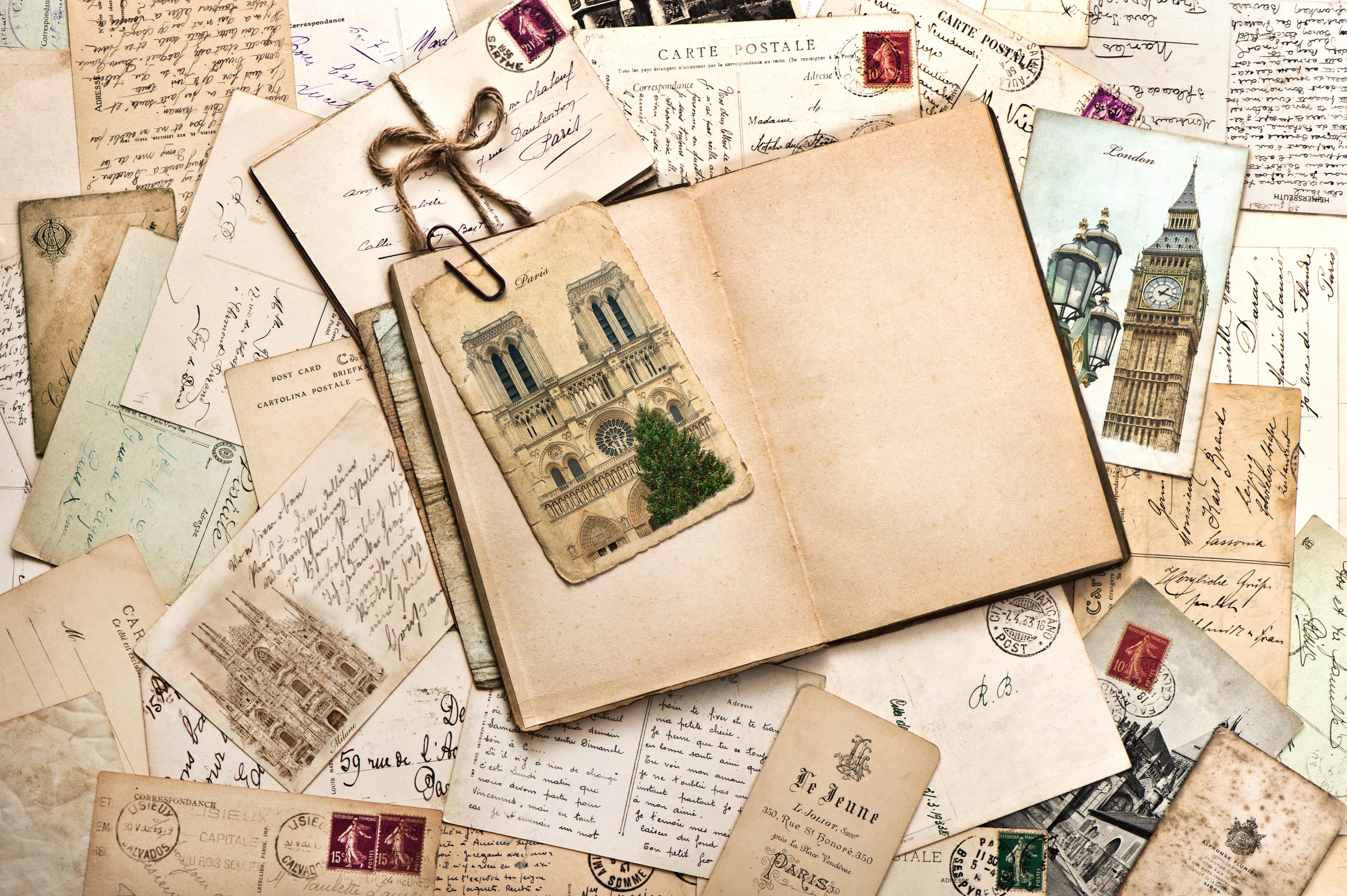 Письма с открытками, днем неторопливости февраля