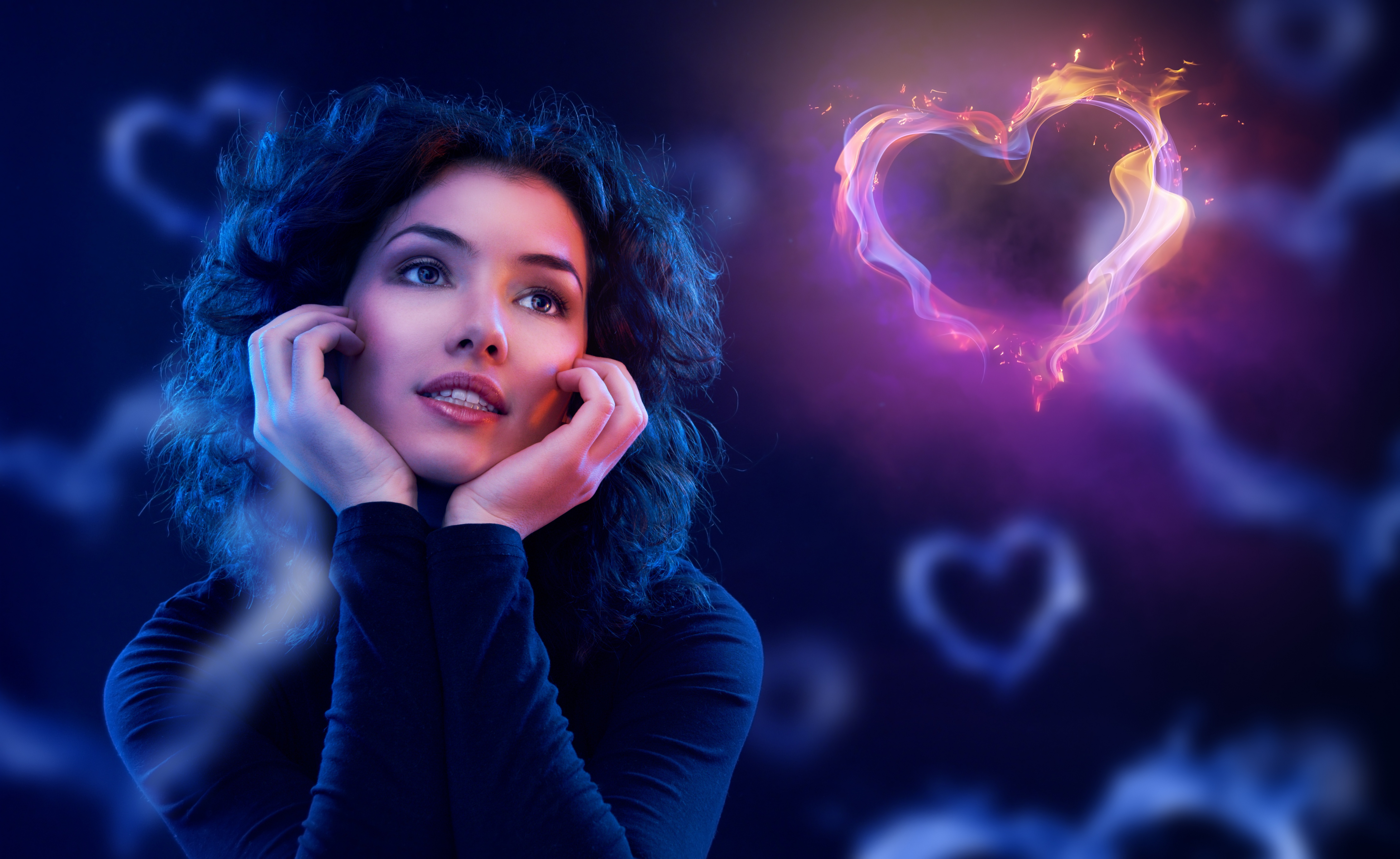 Сердце девушка обнимка  № 1659748 без смс