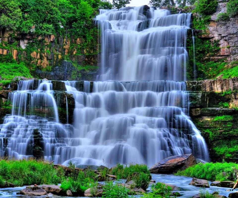 Картинка на раб стол водопады