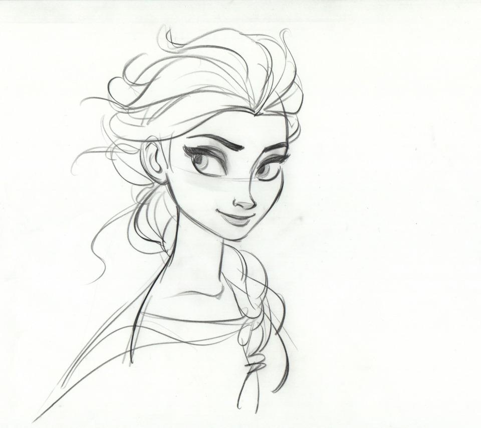 Картинки принцесса эльза карандашом
