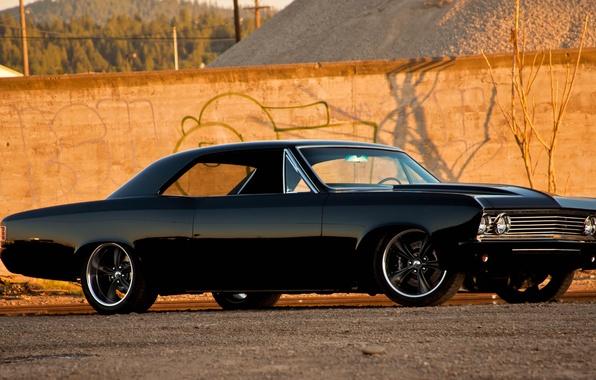Картинка тюнинг, Chevrolet Chevelle SS, muscle car, шевролет