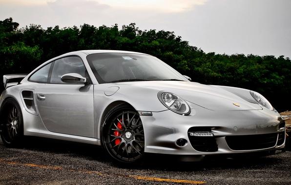 Картинка Porsche, Спорт, Машина, Car, Порше, Автомобиль, Beautiful, Wallpapers, Tuning, Красивая, Обоя, Кар, Silver, 977, 360Forged