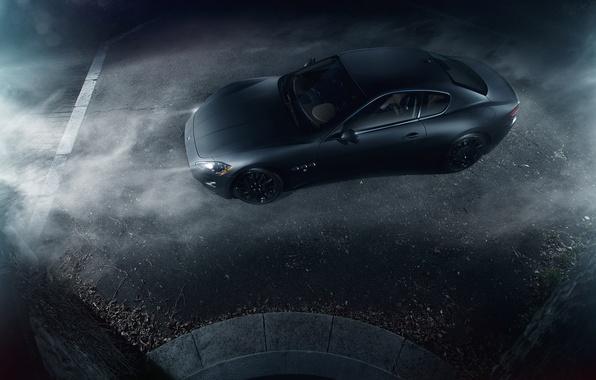 Картинка Maserati, Turismo, Black, Smoke, Gran, Italian, Exotic