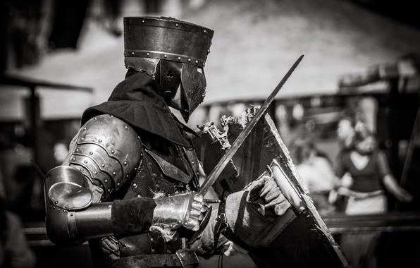 Картинка меч, доспехи, воин, шлем, щит