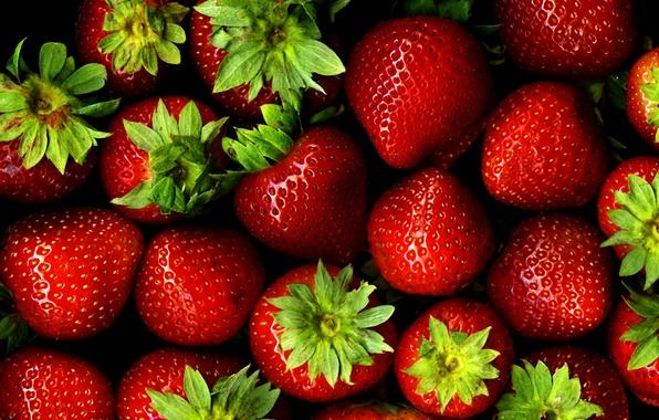 Картинка клубника, ягода, красная