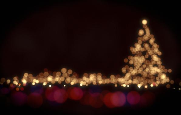 Картинка свет, круги, lights, огни, праздник, краски, colors, light, ёлка, circles, боке, bokeh, holiday, 2560x1600, christmas …