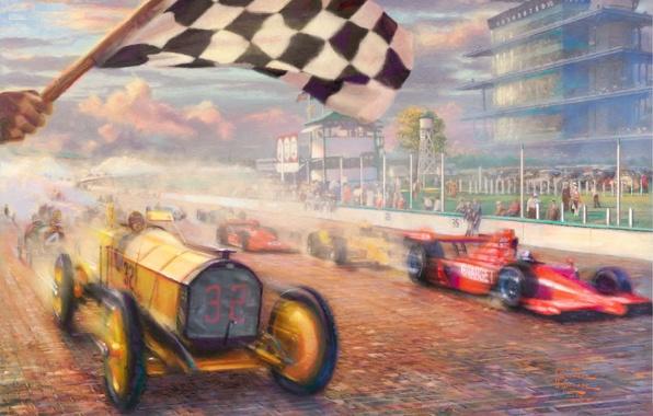фото гонки флаг