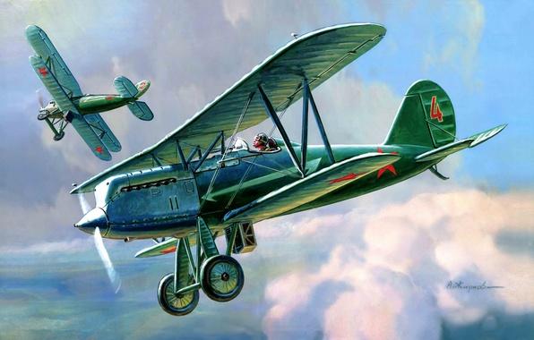 Фото обои полутораплан, Н. Н. Поликарпова., самолет, советский, истребитель, одноместный, конструктора, И-3