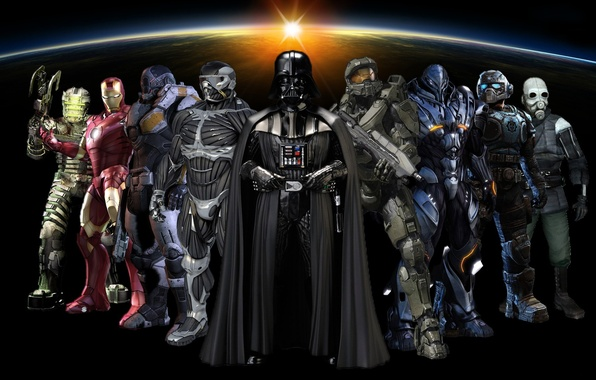 Картинка Star Wars, Crysis, Darth Vader, Halo, Space, Half Life, Hunter, Dead Space, Gears of War, …