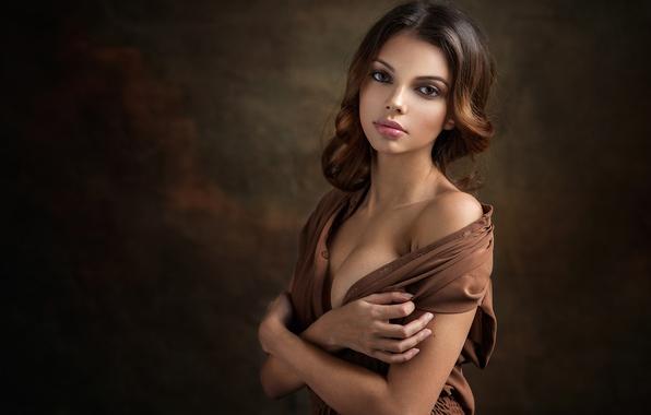 Картинка глаза, взгляд, девушка, портрет, фотограф, Dennis Drozhzhin