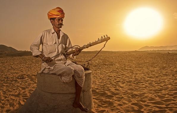 Картинка музыка, человек, Индия, инструмент