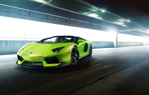 Картинка car, green, тюнинг, lamborghini, supercar, tuning, aventador, vorsteiner, авентадор, aventador-v, lp-740
