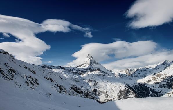 Картинка зима, снег, горы, Switzerland