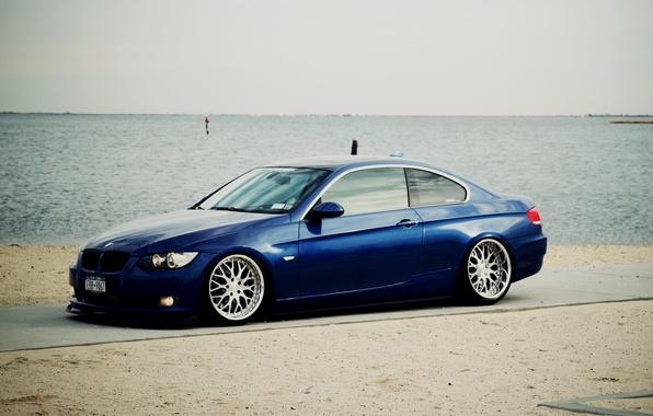 Картинка BMW, Тюнинг, БМВ, Диски, Coupe, E92, Купе, Сбоку, Е92