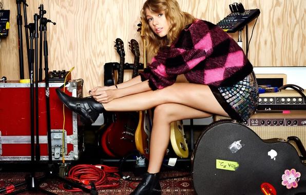 Картинка гитары, Taylor Swift, фотосессия, Тейлор Свифт, Lucky
