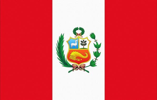 Картинка Красный, Белый, Флаг, Герб, Photoshop, Peru, Перу