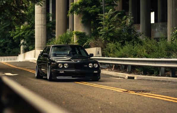Картинка BMW, Black, Coupe, E30