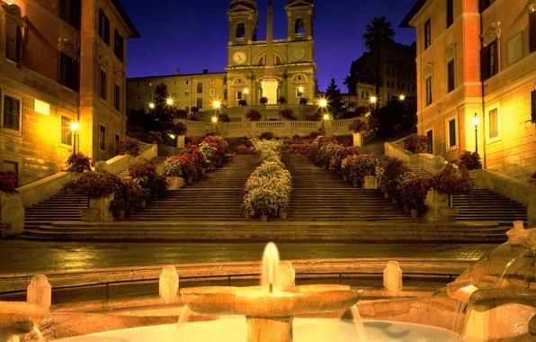 Картинка Рим, Италия, лестница, церковь