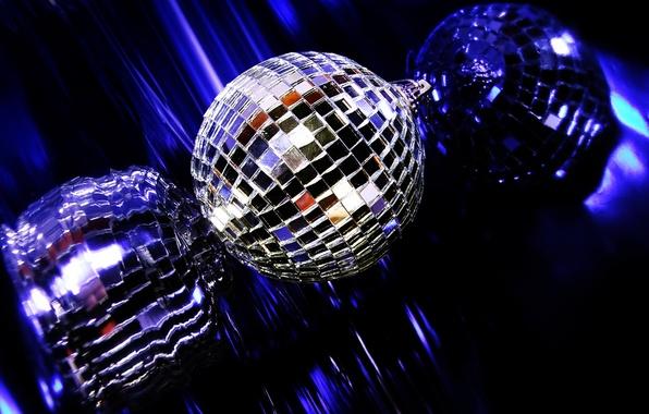 Картинка отражение, музыка, шар, диско