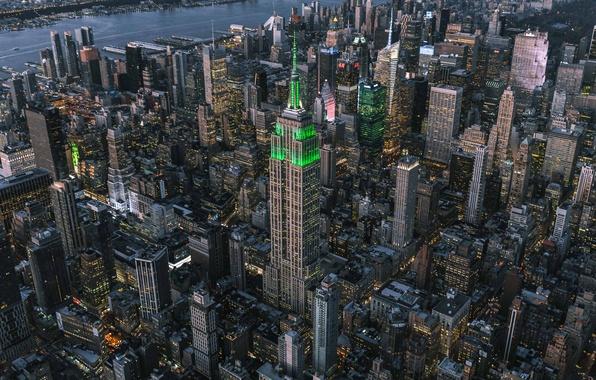 Картинка город, дома, США, Нью Йорк, высотки
