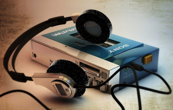 Картинка макро, фон, Sony Walkman