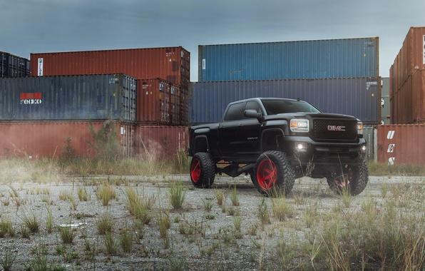 Картинка car, тюнинг, внедорожник, black, пикап, GMC, Denali, 2500
