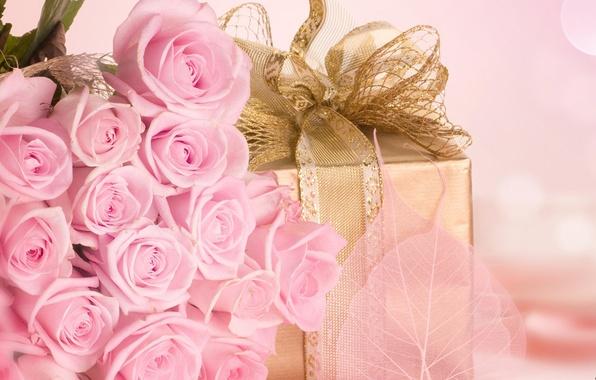 Картинка любовь, цветы, праздник, подарок, романтика, розы, букет, розовые, признание, сюрприз