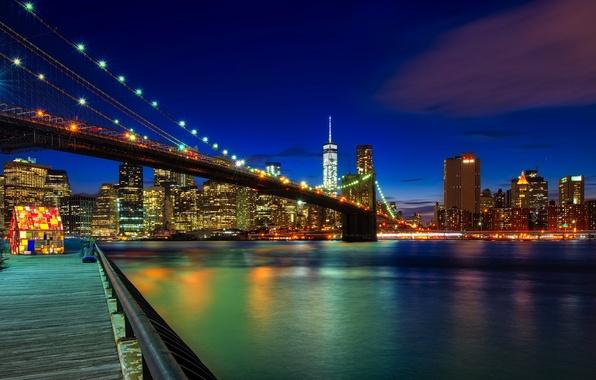 Картинка Brooklyn, New York, Manhattan, Brooklyn Bridge
