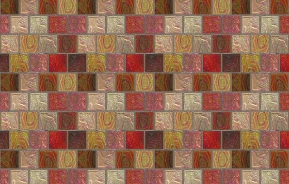 Картинка мозаика, квадратики, стена, плитка, текстуры