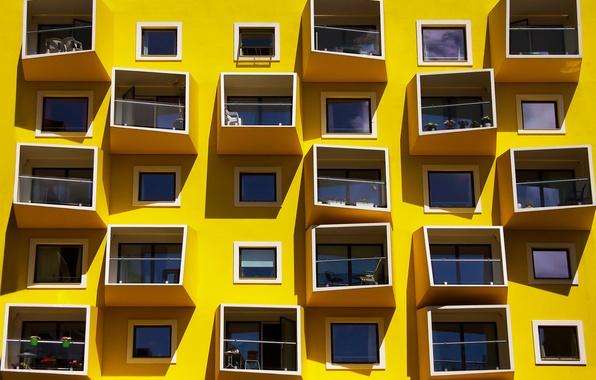 Картинка дом, краски, окна