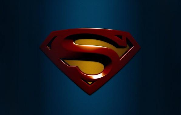 Картинка синий, фон, обои, логотип, картинка, супергерой, изобрадение