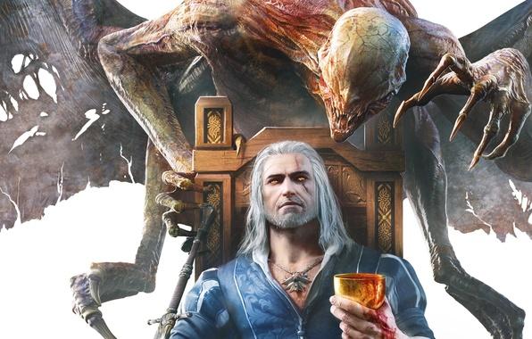 Картинка Монстр, Ведьмак, The Witcher, Геральт, DLC, CD Projekt RED, The Witcher 3: Wild Hunt, Geralt, …