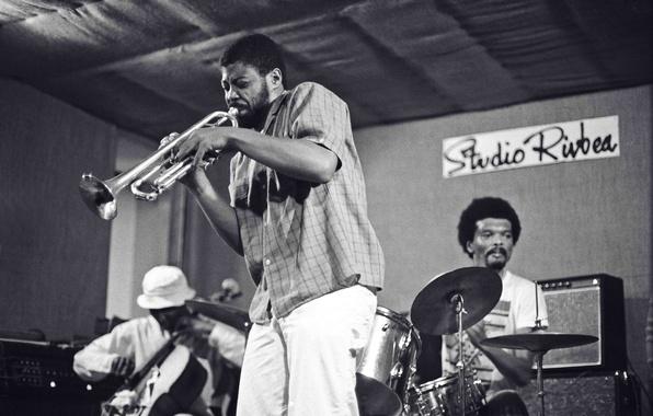 Картинка музыка, сцена, джаз, труба, виолончель, барабаны, музыканты, Rahsid Bakr, Arthur Williams, William Parker