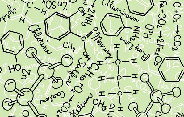 Обои молекула наука химия формулы для рабочего стола
