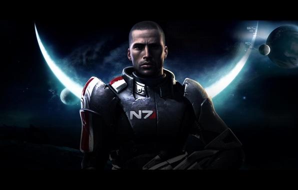 Картинка космос, Mass Effect, экшен