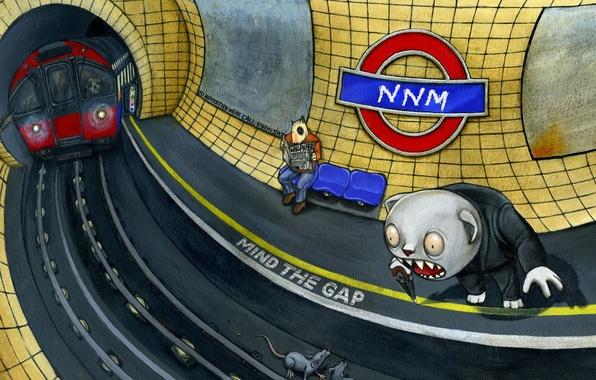 Картинка фантазия, метро, рисунок