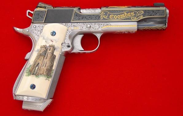 Картинка Пистолет, Огонь, Выстрел