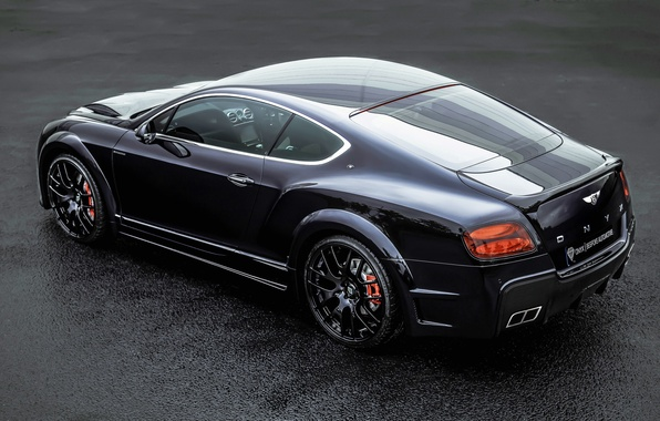 Картинка Bentley, Continental, Black, Tuning, Back, ONYX