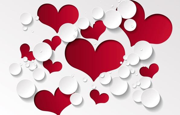 Картинка любовь, фон, сердечки, красные, design, romantic, hearts, valentines