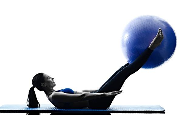 Картинка woman, ball, workout, pilates
