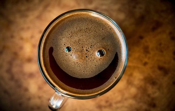 Картинка пена, макро, настроение, чашка, напиток, smile