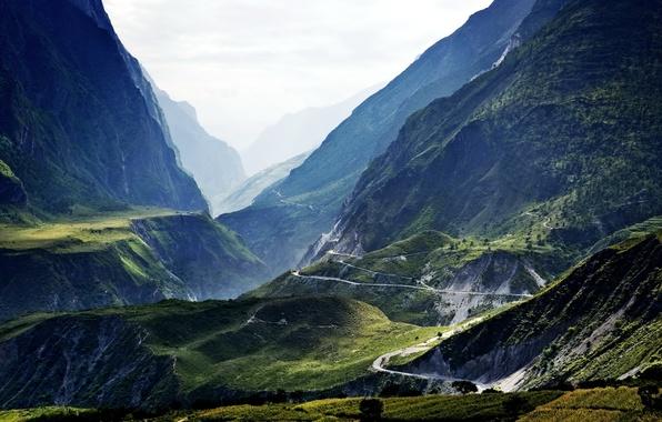 Картинка пейзаж, горы, природа, фото, Китай, Tibet, Lijiang