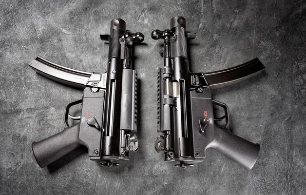 Картинка фон, Германия, пара, Heckler & Koch, Пистолет-пулемёт, MP5
