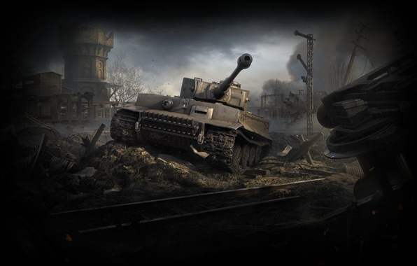 Картинка WoT, World of Tanks, Мир Танков, Wargaming Net, Tiger I, Тяжёлый Танк